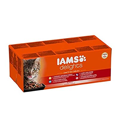 IAMS Delights Land & Sea Collection in Gravy Cat Food 48 x 85g 2