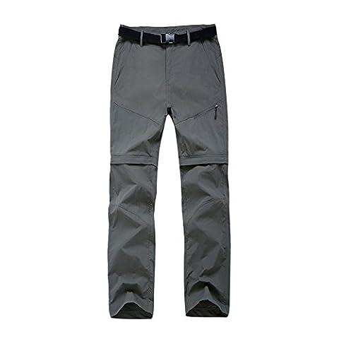 Lanbaosi Pantalon de Randonnée Convertible Femme Pantalons Extérieure Imperméable Armée verte M/FR 34