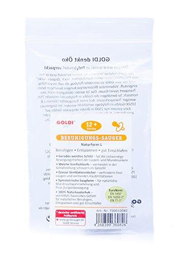 Goldi Sauger Kirschform | Beruhigungs-Sauger aus Naturkautschuk (ab 12 Monate)
