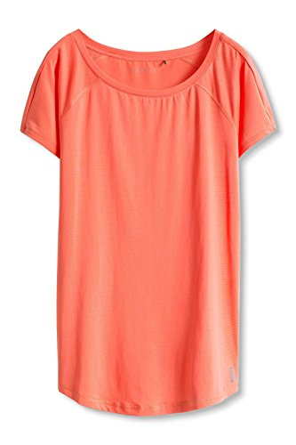 ESPRIT Sports Damen Sporttop Active/Training E-Dry Funktionsshirt T-Shirt Orange (CORAL ORANGE 870)