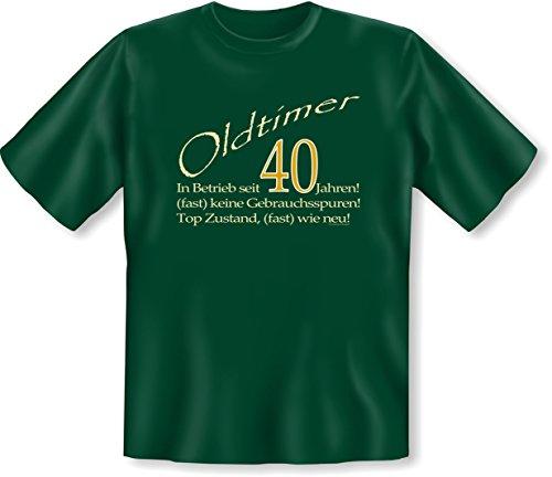 Sprüch Fun T-Shirt Geschenk zum 40. Geburtstag Vatertag Weihnachten auch Übergrößen 3XL 4XL 5XL Farben: schwarz blau braun grün grün-05