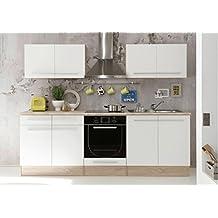 AVANTI TRENDSTORE - Cucina in quercia Sonoma d'imitazione, apparecchiature elettriche NON comprese, ca. 240x204x60 cm