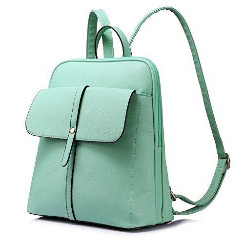 Rucksack Damen Schulranzen Damen Großen Kapazität Reisetasche,Grün