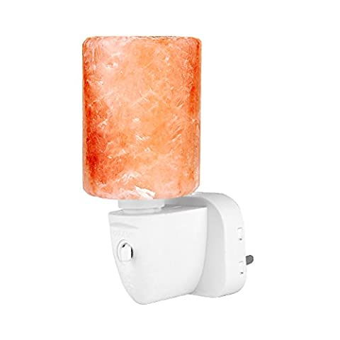 Mini Night Light Wall Lamp Natural Pure Crystal Himalayan Salt Lights BS Plug Cylinder-shaped