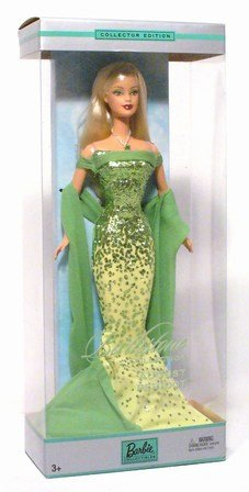 Birthstone Collection August Peridot Blonde Barbie -