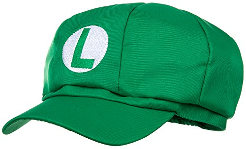 (Luigi Mütze grün für Erwachsene und Kinder Karneval Fasching Verkleidung Kostüm Mützen Hut Cap Herren Damen Kappe)