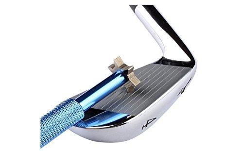 mamimamih New rainures Club de golf wedge Groove pour Taille-Crayon en fer avec 6têtes de rechange pour les cales et utilitaire Clubs Bleu Bleu