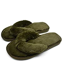 414243c6fad9 COFACE Fashion Plush Flip-Flops Soft House Indoor Spa Bedroom Slippers Shoes  for Ladies Womens