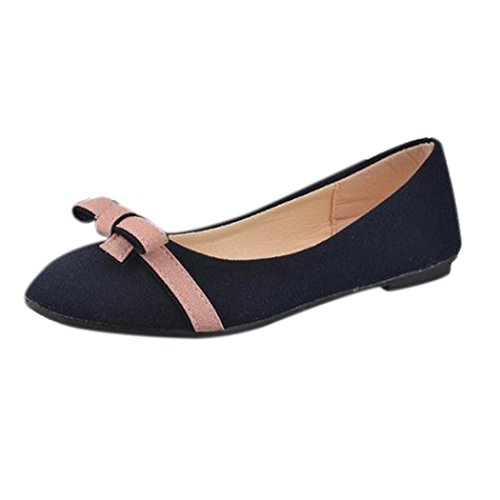 903/5000 Femmes Printemps Bowknot Simple Chaussures, Loisirs Sweet Darling Chaussures Bleu