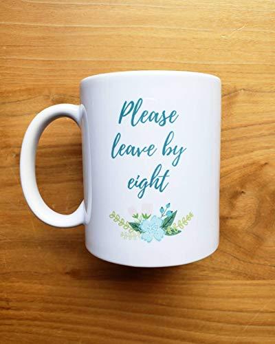 8 Unzen Verlassen (EstherBur87 11 Unzen Keramik Becher Kaffee Tee Tasse verlassen bis acht)