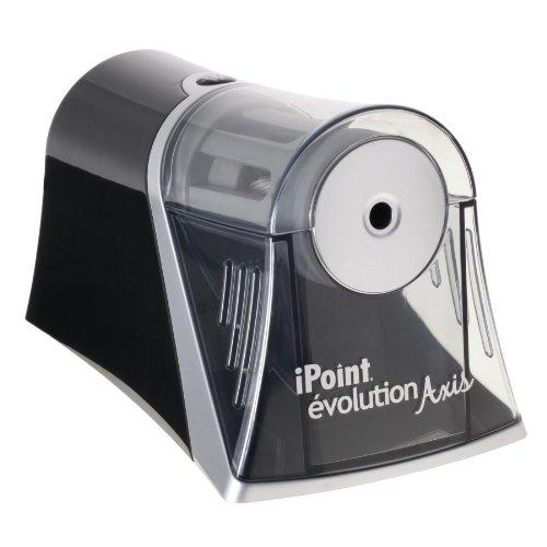 Westcott iPoint Axis E-15510 00 - Sacapuntas eléctrico con parada automática, color gris y negro