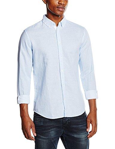 ESPRIT Herren Freizeithemd 046ee2f022 - mit Leinenanteil Weiß (White 100)