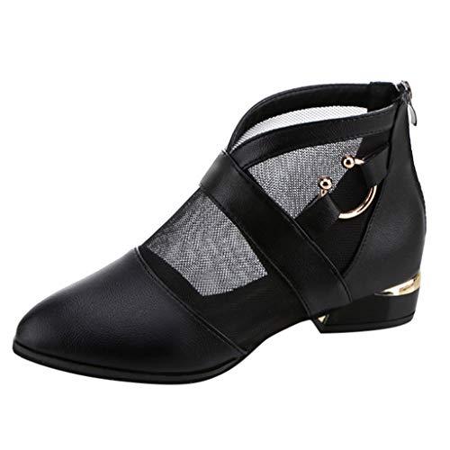Damen Schuhe elegant Day.LIN Sommer Stiefeletten Stiefeletten Damen Sommer stiefeltasche high Heels Stiefel