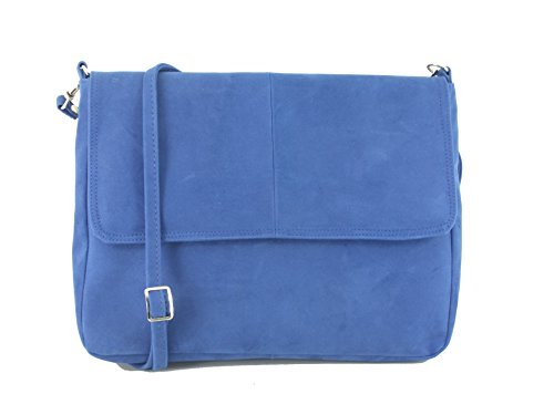 LONI  Lucky, Damen Clutch Blau Light Royal Blue/Cobalt Blue M (Handtaschen Blue Cobalt)