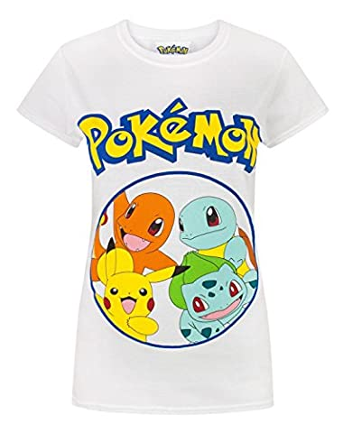 Pokemon Kanto Starters Women's T-Shirt (L)