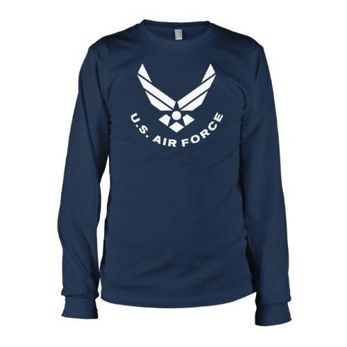 TEXLAB - U.S. Air Force - Langarm T-Shirt Dunkelblau