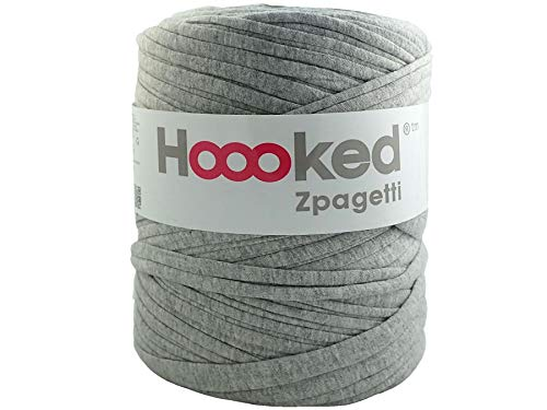 Hoooked Zpagetti T-Shirt-Garn, Baumwolle, 120 m, 700 g, Grau -