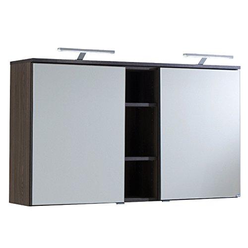 Held Möbel 021.1.0052 Mailand Spiegelschrank 120 x 66 x 20 cm, 2 Türen, 4 Einlegeböden,...