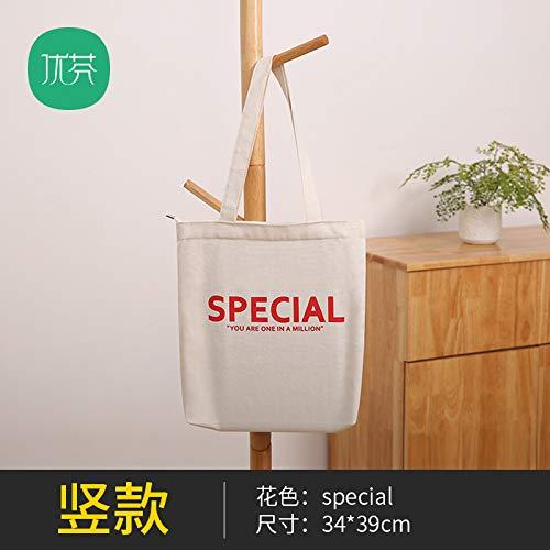 GZXYYY Switch Tasche Große Kapazität Einkaufstasche Reisetasche einfach und umweltfreundlich Reißverschluss Baumwolltasche koreanische Platte wild Schulter Student, XX