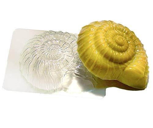 1pc Muschel Ammonit Schnecke Marine Sea Shell Beach-Kunststoff-Soap-Herstellung von Schimmel-Geschenk für Sie Für Ihn Form 83x71x29mm
