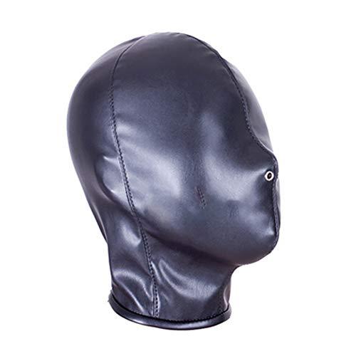 Demarkt Kopfmaske Bondage Fetisch SM Sex Spielzeug Maske Schwarz BDSM Latex Kopfmaske Hood Fetish Kostüme Erotik Restrictions