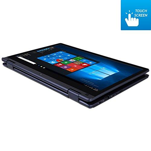 HKC Y11CC DE 116 Zoll entire HD Touchscreen Convertible Notebook Intel Atom Z8350 Quad center 2 GB RAM 32 GB show Festplatte Windows 10 Deutsche Tastatur Navy balu Notebooks