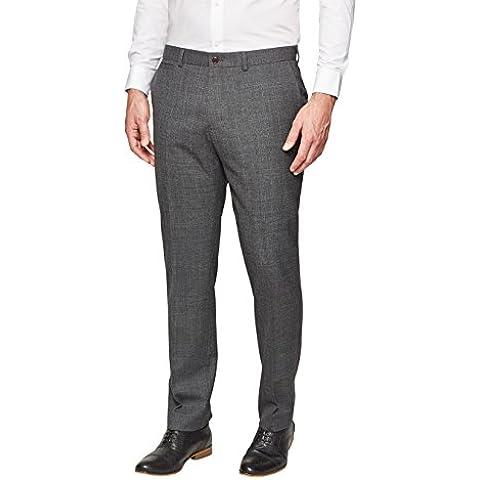 next Hombre Pantalones Diseño A Cuadros Estilo Elegante Formal Clásico