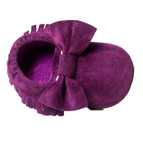 Igemy 1Paar Baby Krippe Quasten Sequins Schuhe Kleinkind Soft Sohle Turnschuhe Casual Schuhe Purple