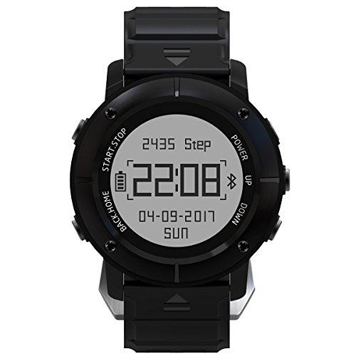 IP68 Wasserdichtes Outdoor Sport GPS Bluetooth Herzfrequenz Kompass Smart Uhr