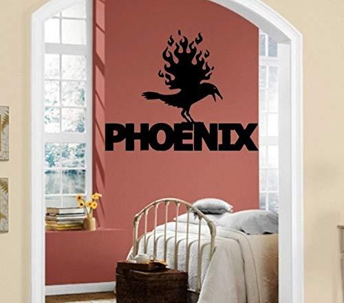 Pbldb Wandaufkleber Vinyl Aufkleber Phoenix Firebird Mythologie Kreatur Legende Bio Dekoration Wandaufkleber 67X52Cm