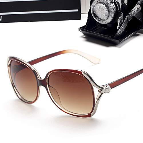 Cflfdc occhiali da sole occhiali da sole tide star occhiali lady retrò di guida occhiali da sole polarizzati uomo telaio in metallo ultra light 8253 tè trasparente scatola panno