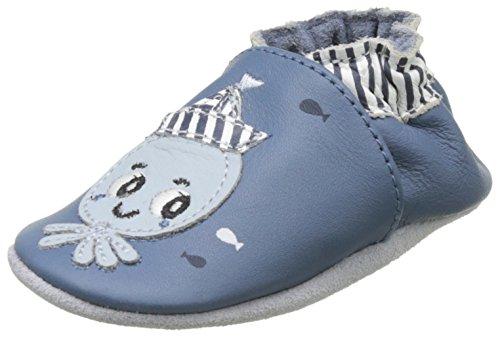 RobeezOctopussy Navy - Scarpine e pantofole primi passi  Bimbo 0-24 , blu (Blu (Bleu)), 19/20
