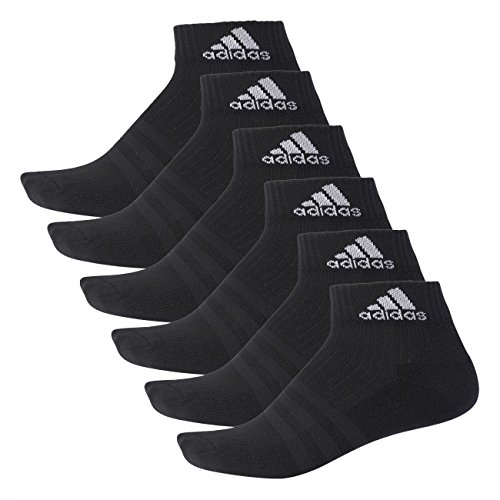 Adidas Quarter Socken Performance Ankle Half Cushioned 12er Pack, Größe:35-38;Farbe:Black / Black / White (A2280) (Adidas Quarter-socken)