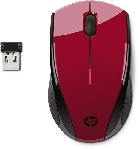 HP X3000 - Ratón inalámbrico óptico, Color Rojo