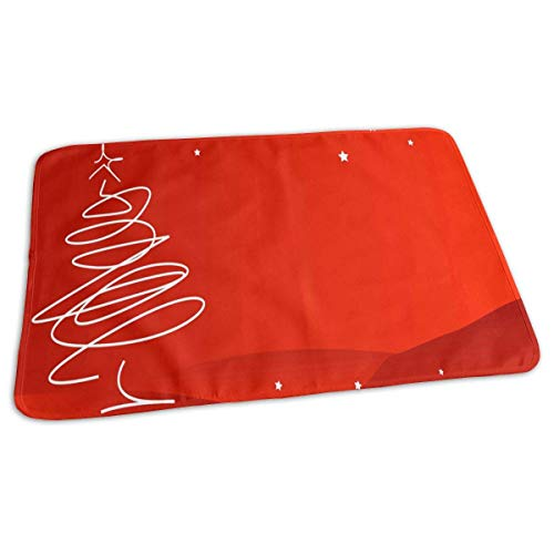 Voxpkrs Changing Pad Red Christmas Background Baby Diaper Urine Pad Mat Inspiring Kids Bed Wetting Pads Sheet for Any Places for Home Travel Bed Play Stroller Crib Car