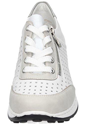 Rieker N0025, Sneakers Basses Femme Blanc (Ice/reinweiss/silber / 80)