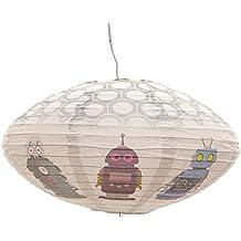 Pantalla de la lámpara Funky OVNI en forma de Robots de Papel