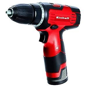 Einhell 4513660 Taladro atornillador sin cable TH-CD 12-2 Li, 12 V, Fuerza 24Nm, Par de apriete 20, color rojo