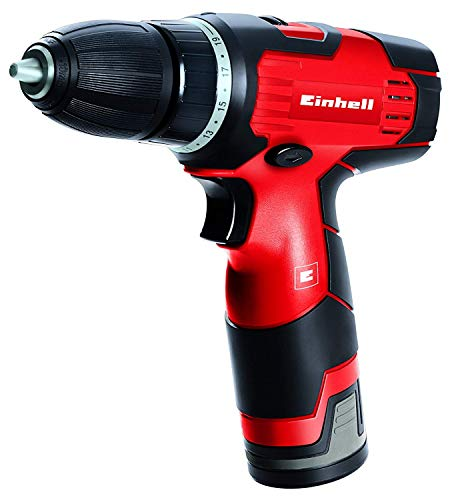 Einhell 4513660 Taladro atornillador sin cable TH-CD 12-2 Li, 12 V, Fuerza 24Nm, Par de apriete 20, color rojo