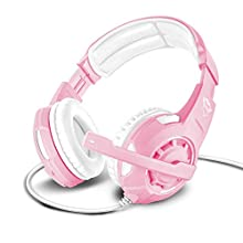 Trust Gaming GXT 310P Jaww Over-Ear Gaming Headset with Microphone for PC, laptop, PS4, Xbox One and Nintendo Switch, Pink