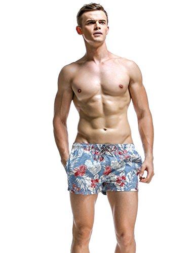 SEOBEAN Herren Badehose Badeshorts Board Shorts Strand Shorts 2839