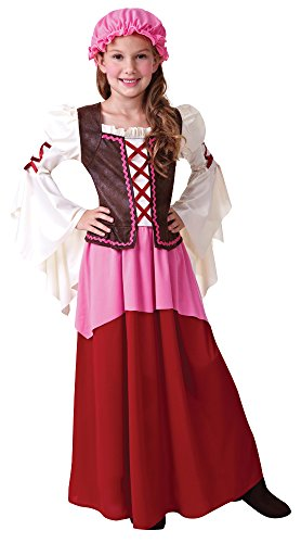 Maid Kostüm Bar (Tavernen Mädchen Mittelalterliche Magd Wirtin Kinder Kostüm Gr. L (9-12)
