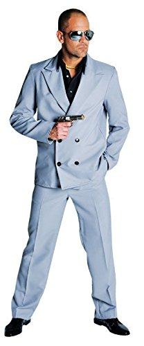 M210252-L grau Herren Miami Vice Anzug-Kostüm Bodyguard - Kostüm Miami
