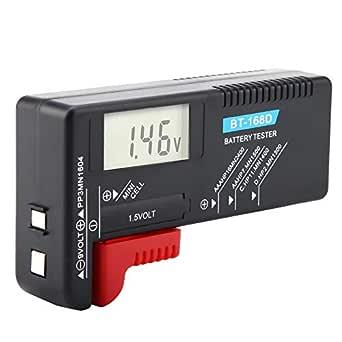 Car Battery Tester LCD AA//AAA//C//D//9V//1.5V LED Lights Digital Alternator Tester Multi Functions Tester Car Battery Tester LED Indicators Digital Multi Functions Alternator Tester for Car