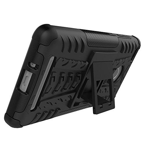 YHUISEN Hybrid Neue Dual Layer-Rüstungs-Kasten Abnehmbare Hinterbauständer 2 in 1 Stoß- Tough Rugged Case für Xiaomi Redmi 3S / 3 Pro ( Color : Black , Size : Xiaomi Redmi 3S ) Green