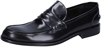 Zapatos Hombre Bruno VERRI Mocasines Negro Cuero AH462 (44 EU)