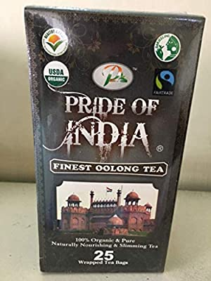 Pride Of India thé oolong organique, 25 comptage (6pack)