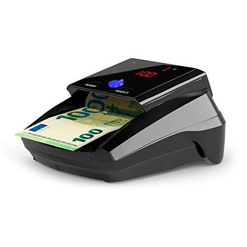 Detectalia D7 - Geldscheinprüfgerät - Automatisches Geldscheinprüfer vorbereitet für neue 100- und 200-Euro-Banknoten