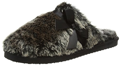 Dunlop Adrienne, Zapatillas de Estar por Casa para Mujer, Gris (Charcoal), 38 EU