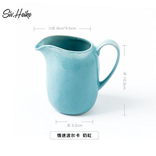 Syhao la brocca con il caffè latte del cilindro di alimentazione in ceramica pentola latte miele di tazza di latte può , creative blu del mare